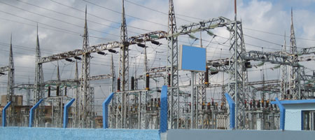 planta de transformación eléctrica